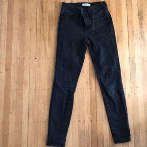 """Madewell Black 9"""" High Rise Skinny Skinny Jeans"""